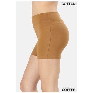 """NEW """"Café"""" cotton biker shorts"""